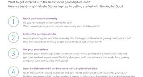 Gaming for Good Tipsheet