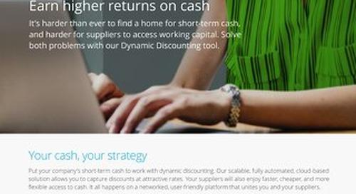 Dynamic Discounting datasheet: earn higher returns on cash