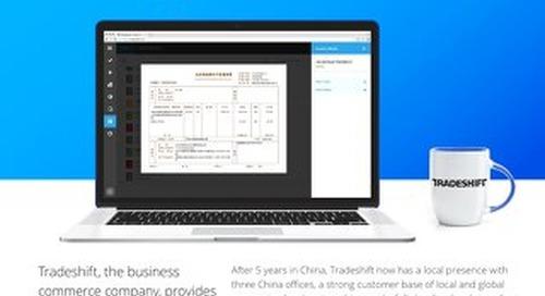 Tradeshift has grown strong in China