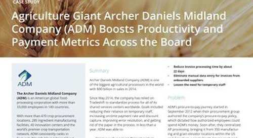 ADM boosts productivity and payment metrics across the board