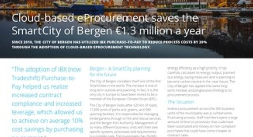 Cloud-based e-procurement saves the SmartCity of Bergen €1.3 million a year