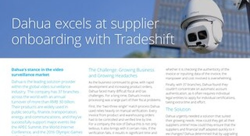 Dahua excels at supplier onboarding with Tradeshift