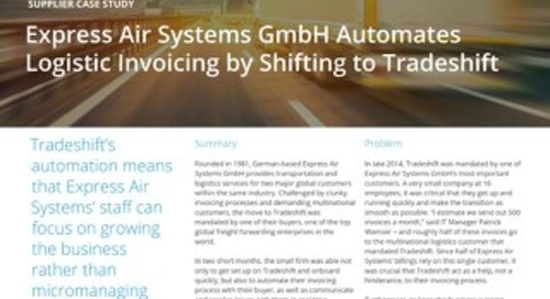 Express Air Systems GmbH automates logistic invoicing by shifting to Tradeshift