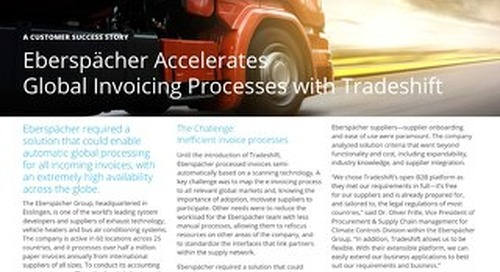 Eberspächer accelerates global invoicing processes with Tradeshift
