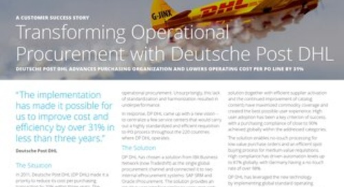 Transforming operational procurement with Deutsche Post DHL