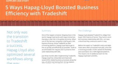 Hapag-Lloyd boosted business efficiency with Tradeshift