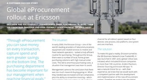 Global e-procurement rollout at Ericsson