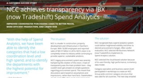 NCC Achieves Transparency via IBX (now Tradeshift) Spend Analytics