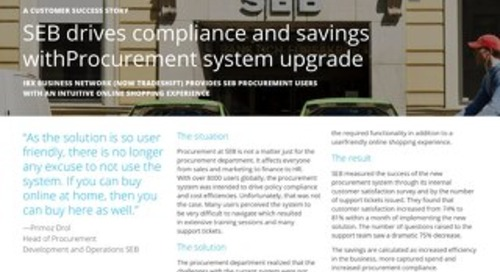 SEB Drives Compliance and Savings with Procurement System Upgrade