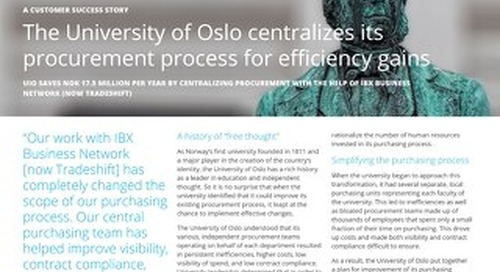 The University of Oslo centralizes its procurement process for efficiency gains