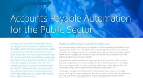 Accounts Payable automation for the UK public sector