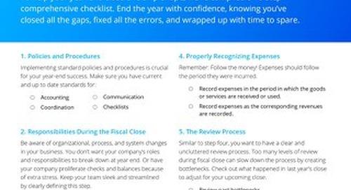 Accounts payable fiscal year-end close: a 10-step checklist