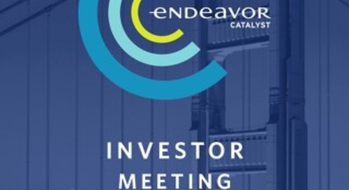 2019 Endeavor Catalyst Meeting Program