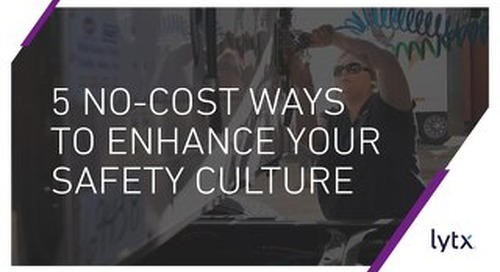 5 No-Cost Ways to Enhance Safety Culture