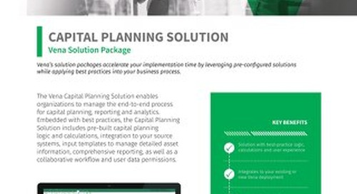 Vena Solution Package: CapEx Planning