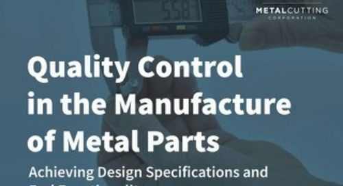 Quality Control in the Manufacture of Metal Parts