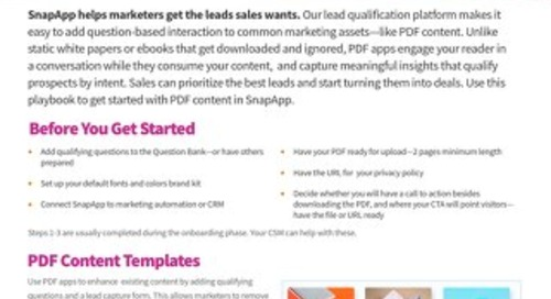 Playbook: PDF Content