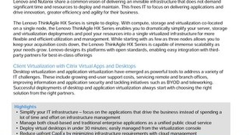 Lenovo Client Virtualization Validated Design for Citrix XenDesktop on ThinkAgile HX with Nutanix InstantOn