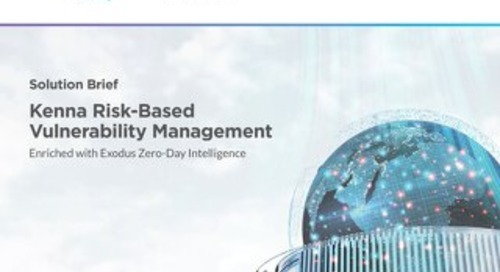 Kenna Risk-Based Vulnerability Management Enriched with Exodus Zero-Day Intelligence