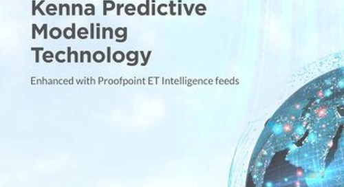 Kenna Predictive Modeling Technology Enhanced with Proofpoint ET Intelligence Feeds