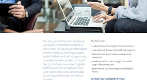 Analytics and Technology-Assisted Review Model Applications