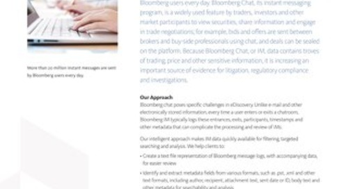 Case Study: Bloomberg Chat eDiscovery Solutions