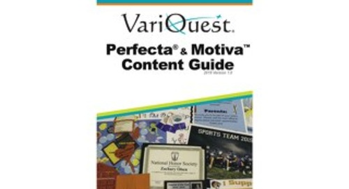 VariQuest Perfecta and Motiva Content Guide