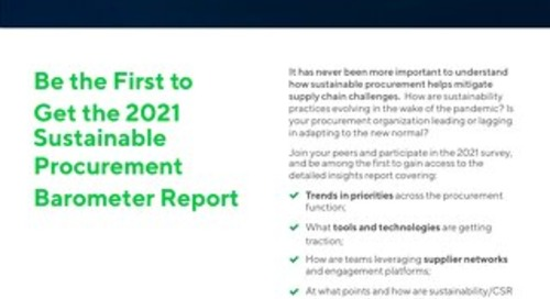 The 2017 Sustainable Procurement Barometer