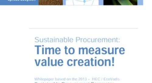 Ecovadis: 2013 Sustainable Procurement Barometer