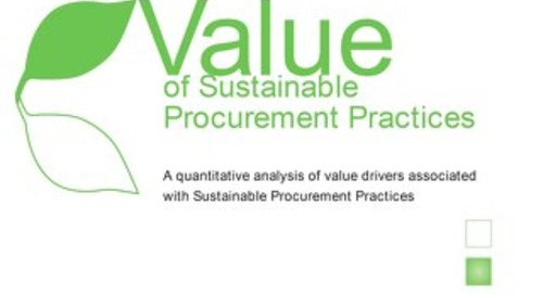 Value of Sustainable Procurement Practices
