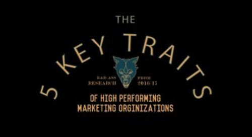 Five Key Traits for High Performing Marketing Organizations