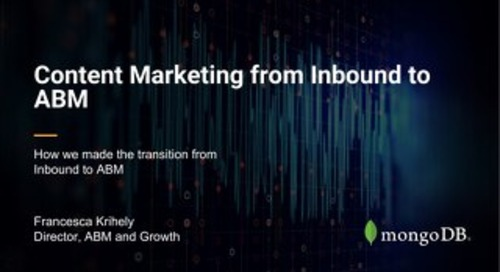 How MongoDB is Building and Distributing Personalized Content Experiences for ABM, and Event Nurtures