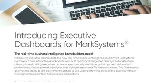 Executive Dashboards for MarkSystems