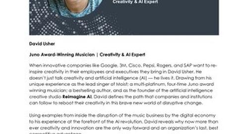 SPARK Canada Keynote Speaker: David Usher