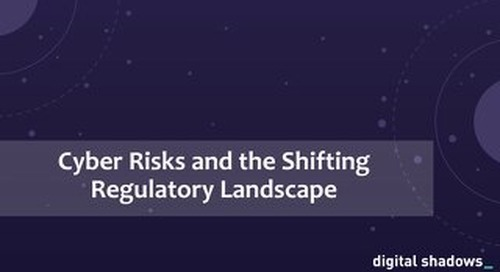 Cyber Risks and the Shifting Regulatory Landscape Presentation