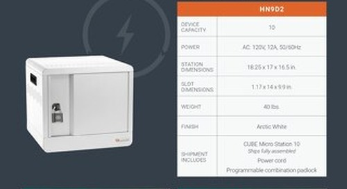 CUBE Micro Station for MacBook and iPad Spec Sheet