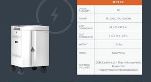 CUBE Cart Mini for MacBook and iPad Spec Sheet