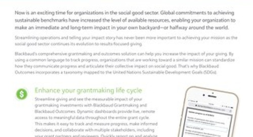 Blackbaud Grantmaking and Blackbaud Outcomes