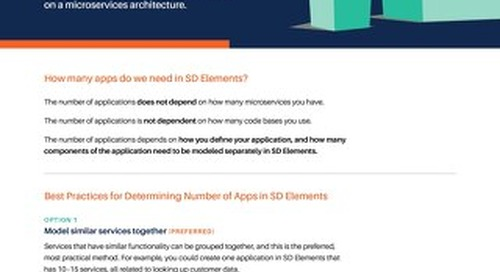 Supporting Applications with Microservices Architecture in SD Elements