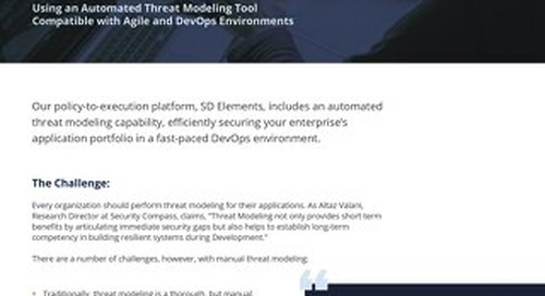 Easy Threat Modeling with SD Elements
