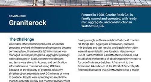 Graniterock COMMANDqc Case Study