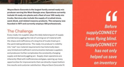 Wayne Davis supplyCONNECT Case Study