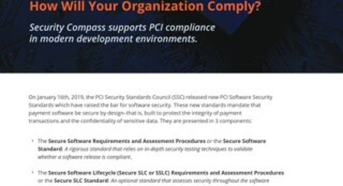 New PCI Software Security Framework: How Will Your Organization Comply?