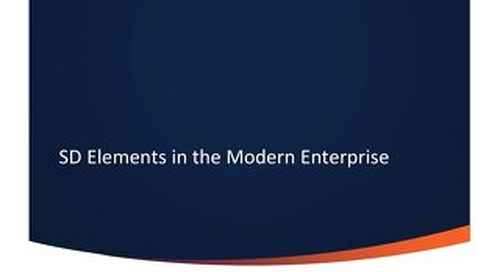 SD Elements in the Modern Enterprise