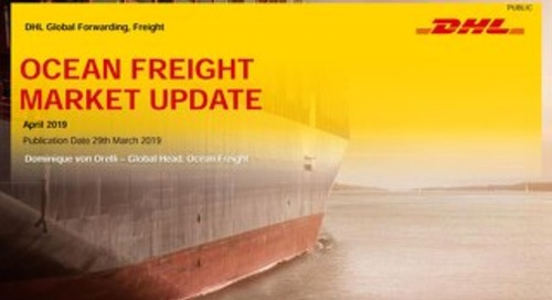 DHL Ocean freight market update april 2019