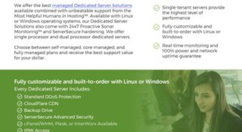 Dedicated Servers Offer The Highest Level of Performance