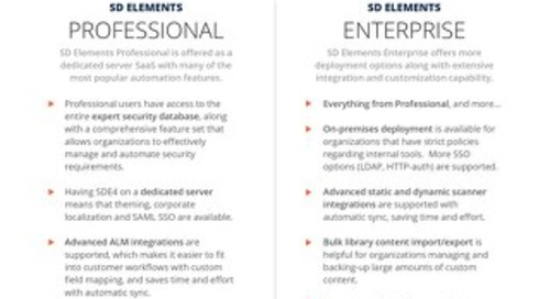 SD Elements: Professional or Enterprise?
