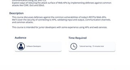 API 101 - Defending Web APIs
