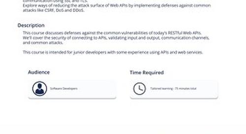 API 101 - Defending Web APIs