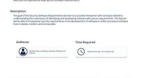 CSP102 – Secure Software Requirements